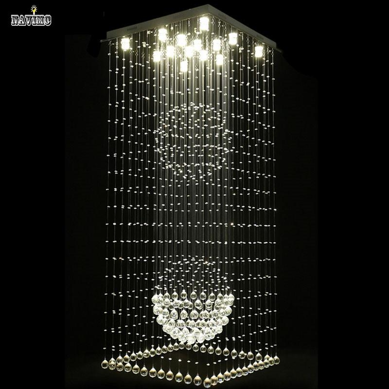 2017 Modern Elegant Led Large Crystal Chandeliers Lighting Intended For Crystal Ball Chandeliers Lighting Fixtures (Image 1 of 25)