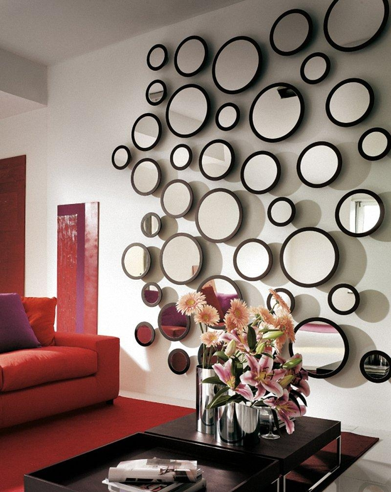 21 Ideas For Home Decorating With Mirrors Within Large Bubble Mirror (Image 1 of 20)