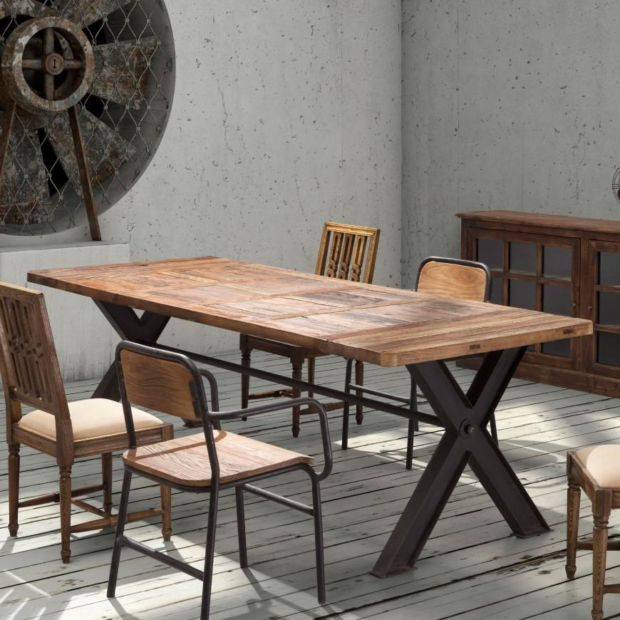 22 Types Of Dining Room Tables (Extensive Buying Guide) Inside Industrial Style Dining Tables (Image 1 of 20)