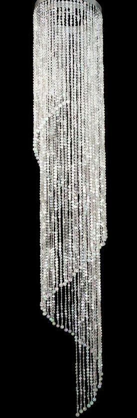 235 Best Wedding Reception Decorating Ideas Images On Pinterest For Faux Crystal Chandelier Wedding Bead Strands (Image 4 of 25)