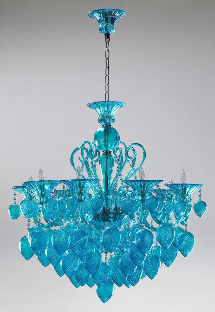 Featured Image of Turquoise Blue Glass Chandeliers