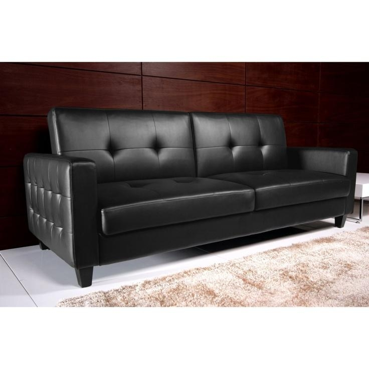 24 Best Sleeper Sofas/futons/couches Images On Pinterest | Sleeper Intended For Black Leather Convertible Sofas (Image 1 of 20)