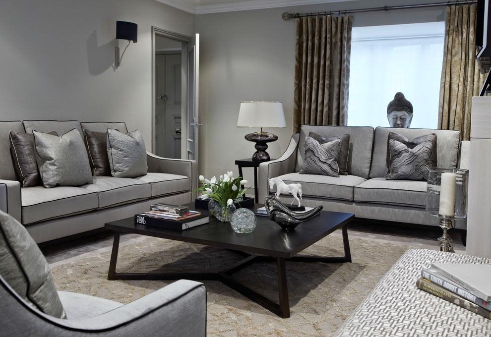 24+ Gray Sofa Living Room Furniture, Designs, Ideas, Plans Within Gray Sofas (Image 3 of 20)