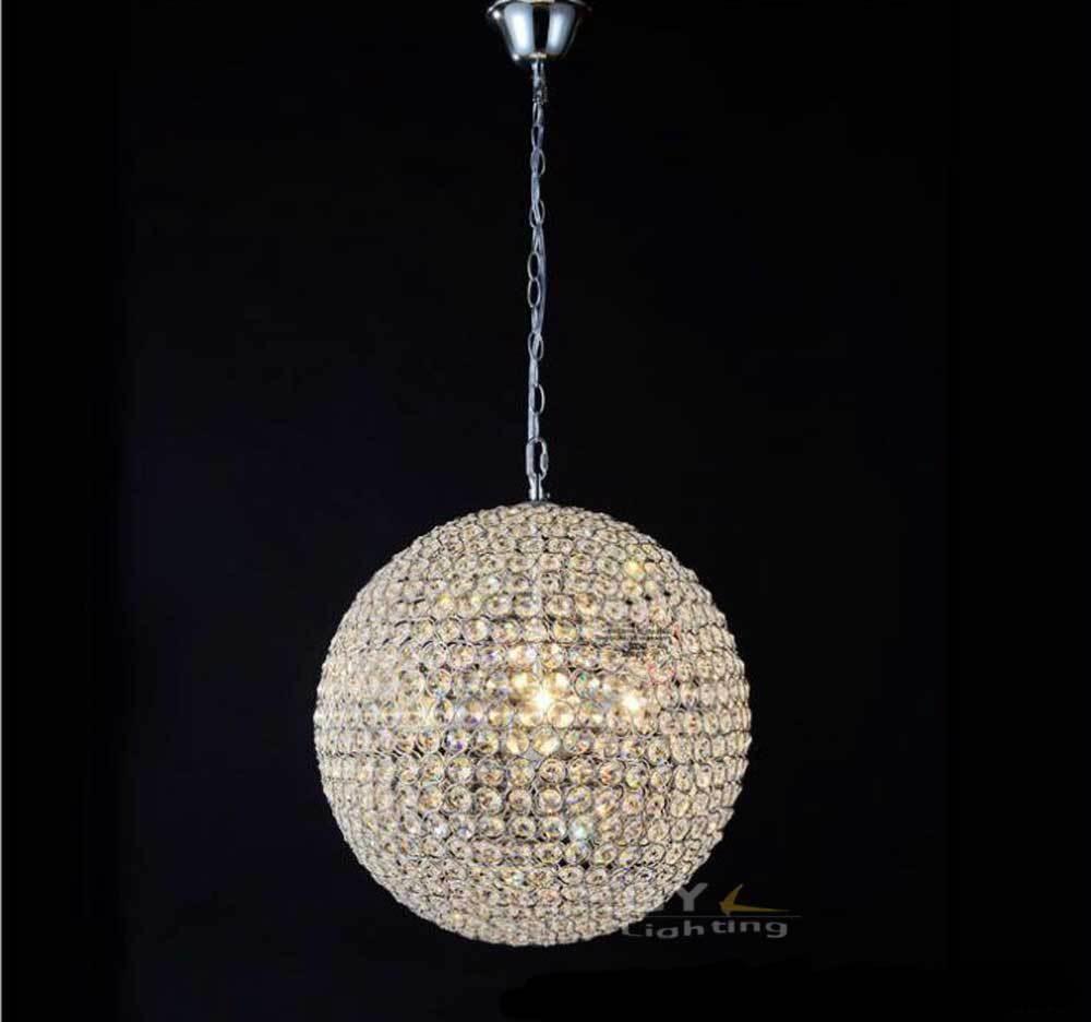 240v D15 To D60cm Chandelier Modern Crystal Round Ball Chandeliers Within Crystal Ball Chandeliers (Image 2 of 25)