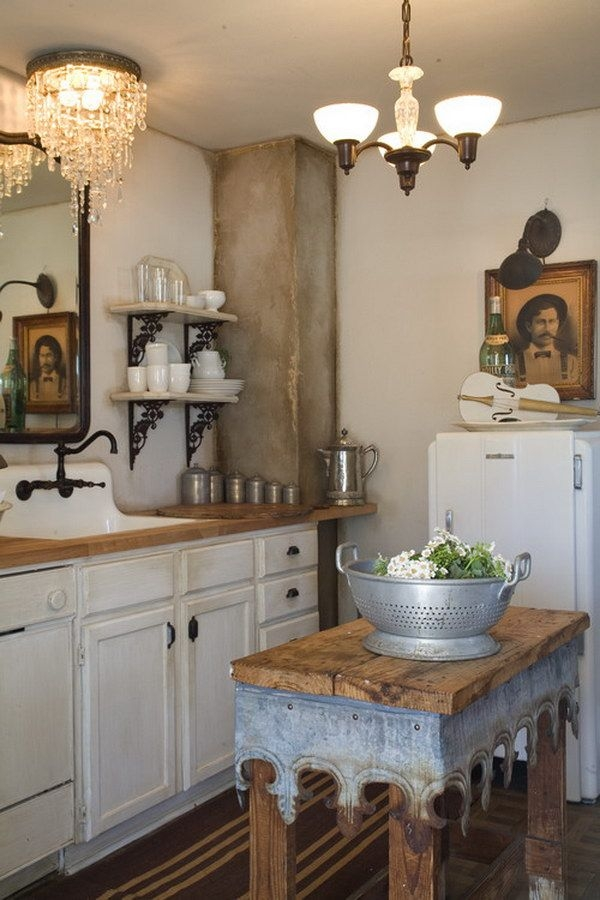 245 Best Collected Kitchen Images On Pinterest Regarding Small Rustic Kitchen Chandeliers (Image 1 of 25)