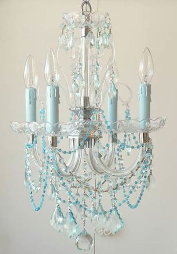 25 Best Blue Chandelier Ideas On Pinterest Octopus Decor Intended For Turquoise Gem Chandelier Lamps (Image 4 of 25)