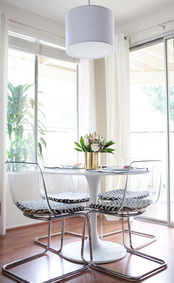 25+ Best Clear Chairs Ideas On Pinterest | Room Goals, Beauty With Round Acrylic Dining Tables (Image 3 of 20)