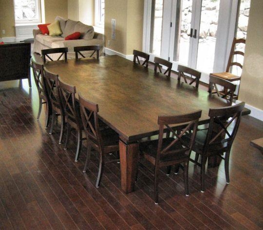 Large Round Dining Table Seats 12: 20 Photos Extending Dining Table With 10 Seats