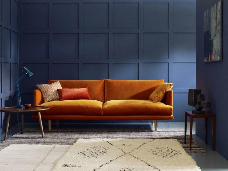 25+ Best Orange Living Room Sofas Ideas On Pinterest | Orange Sofa For Burnt Orange Sofas (Image 1 of 14)
