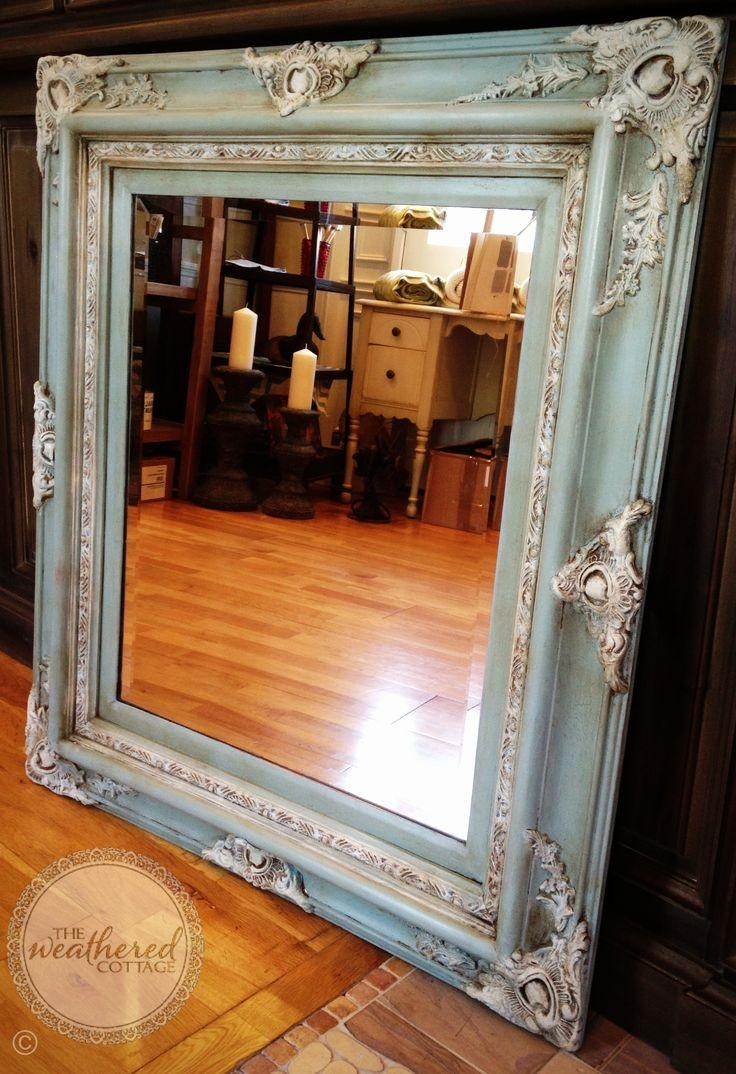 Distressed Framed Mirror Mirror Ideas