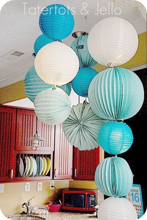 25 Best Paper Lantern Chandelier Ideas On Pinterest Paper Regarding Turquoise Lantern Chandeliers (View 13 of 25)