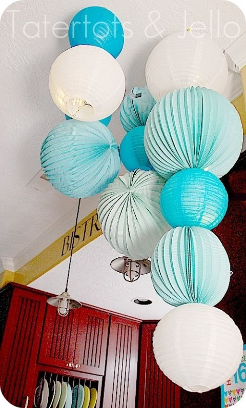 25 Best Paper Lantern Chandelier Ideas On Pinterest Paper Throughout Turquoise Lantern Chandeliers (View 11 of 25)