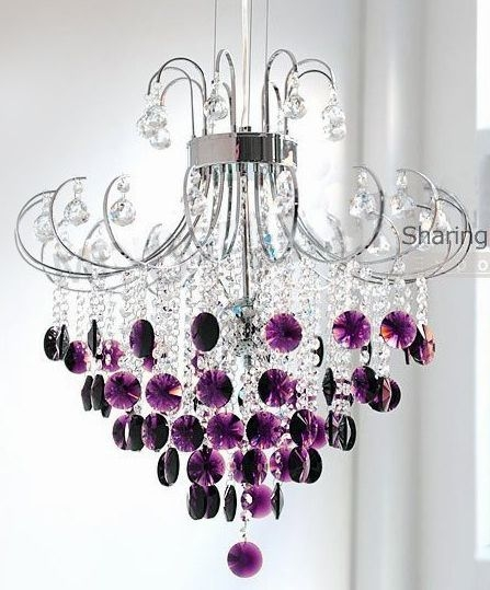 25 best collection of purple crystal chandeliers chandelier ideas 25 best purple chandelier ideas on pinterest purple glass inside purple crystal chandeliers image 3 mozeypictures Images