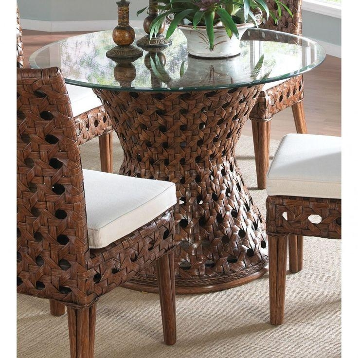 25+ Best Round Glass Table Top Ideas On Pinterest | Glass Table With Wicker And Glass Dining Tables (Image 1 of 20)