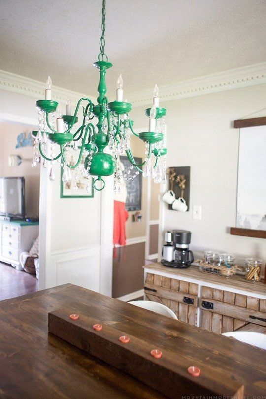 25 Best Spray Painted Chandelier Ideas On Pinterest Paint Intended For Turquoise Color Chandeliers (View 10 of 25)