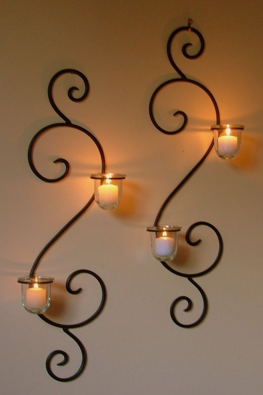 25 Best Wall Mounted Candle Holders Ideas On Pinterest Candle Pertaining To Wall Mounted Candle Chandeliers (Image 6 of 25)
