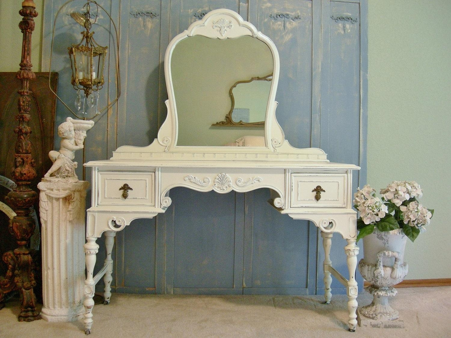 25 Cozy Shabby Chic Furniture Ideas For Your Home | Top Home Designs In White Distressed Mirror Shabby Chic (View 7 of 20)