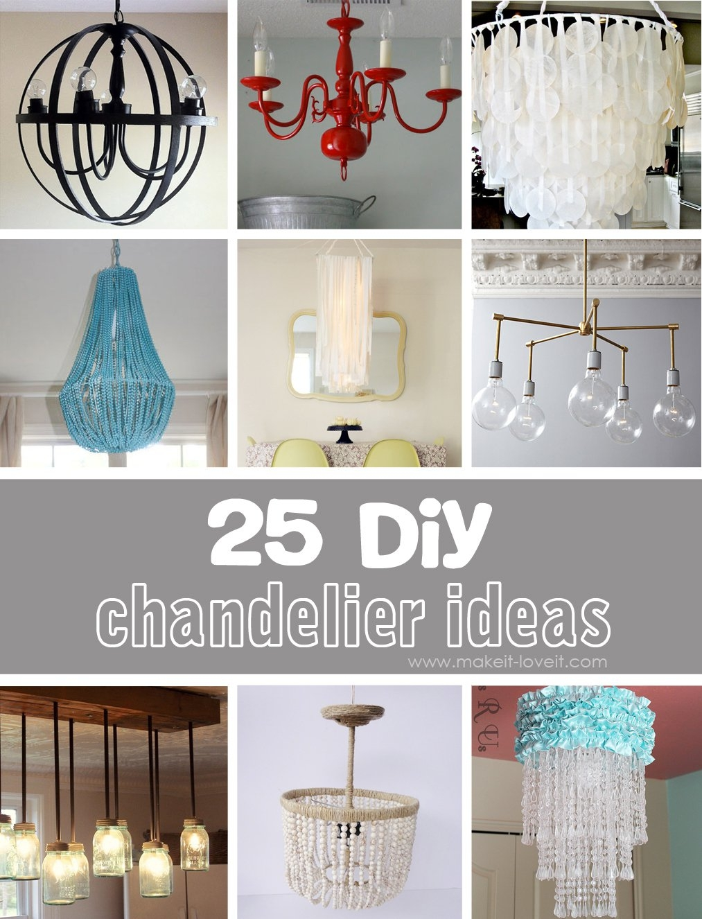 25 Diy Chandelier Ideas Make It And Love It Pertaining To Turquoise Chandelier Lamp Shades (Image 1 of 25)