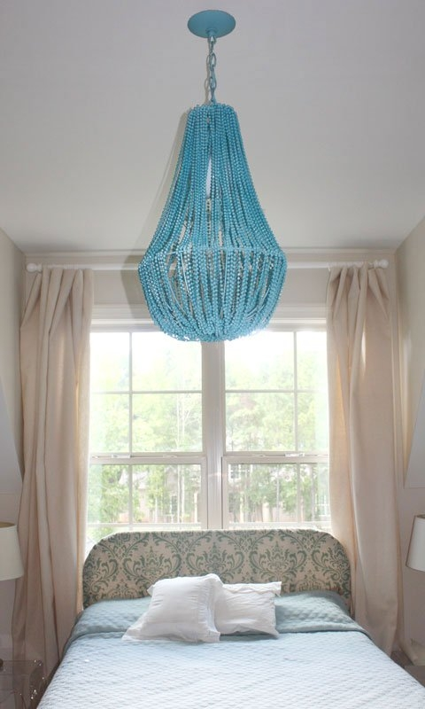 25 Diy Chandelier Ideas Make It And Love It With Regard To DIY Turquoise Beaded Chandeliers (Image 5 of 25)