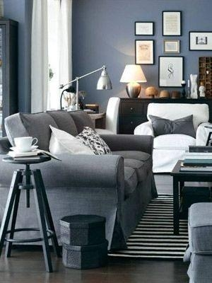 25 Home Catalog Rooms We Want To Live In | Gray, Living Rooms And Room With Blue Gray Sofas (Image 1 of 20)
