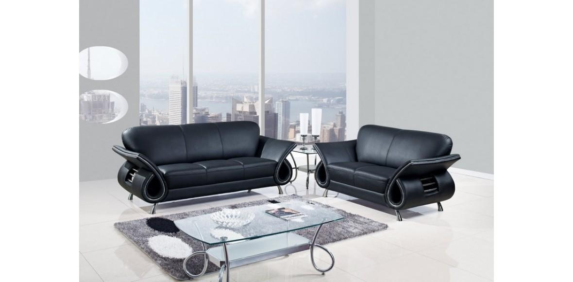 25 Latest Sofa Set Designs For Living Room Furniture Ideas – Hgnv Pertaining To Contemporary Black Leather Sofas (View 18 of 20)