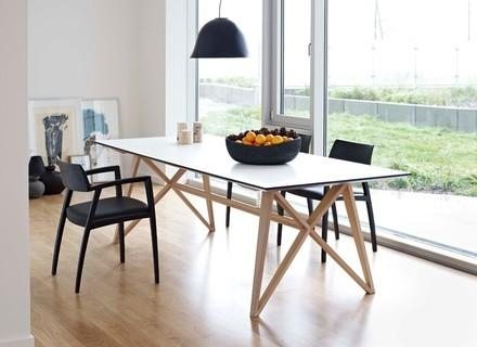 25 Modern Dining Tables, Leather Italian Modern Table With Chairs Inside London Dining Tables (Image 1 of 20)