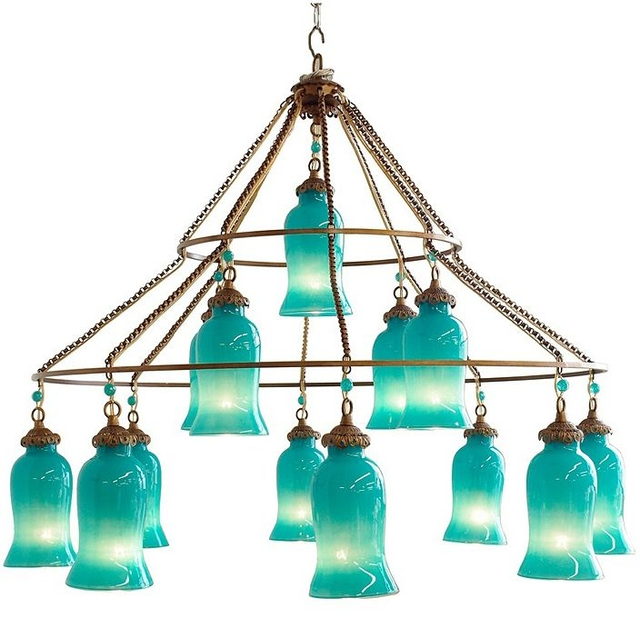 250 Best Lighting Love Images On Pinterest Chandeliers Lighting Inside Turquoise Glass Chandelier Lighting (Image 5 of 25)