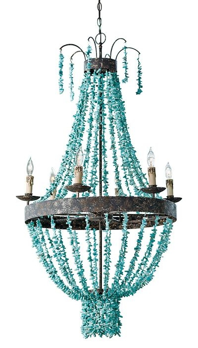 250 Best Lighting Love Images On Pinterest Chandeliers Lighting Regarding Turquoise Stone Chandelier Lighting (Image 5 of 25)