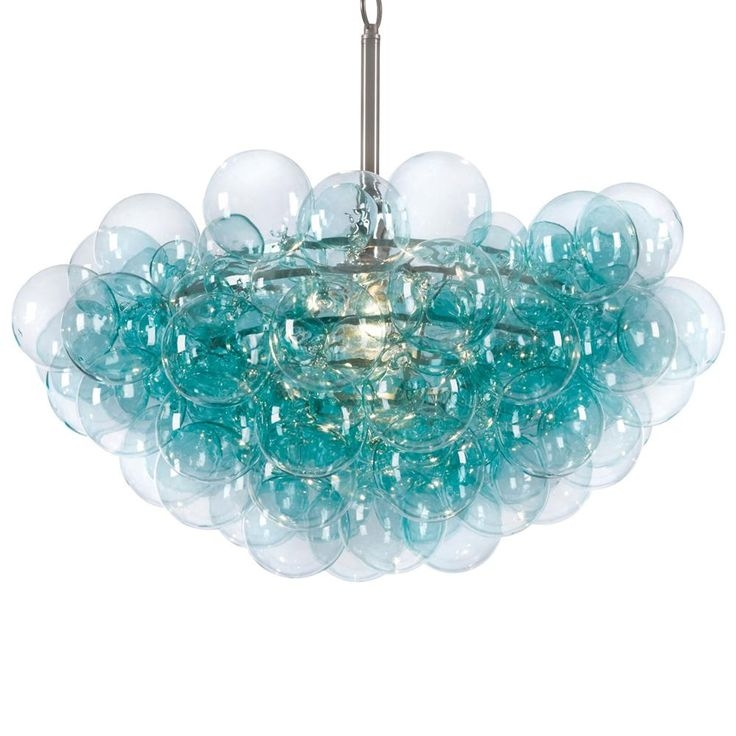 250 Best Lighting Love Images On Pinterest Chandeliers Lighting With Regard To Turquoise Glass Chandelier Lighting (Image 6 of 25)