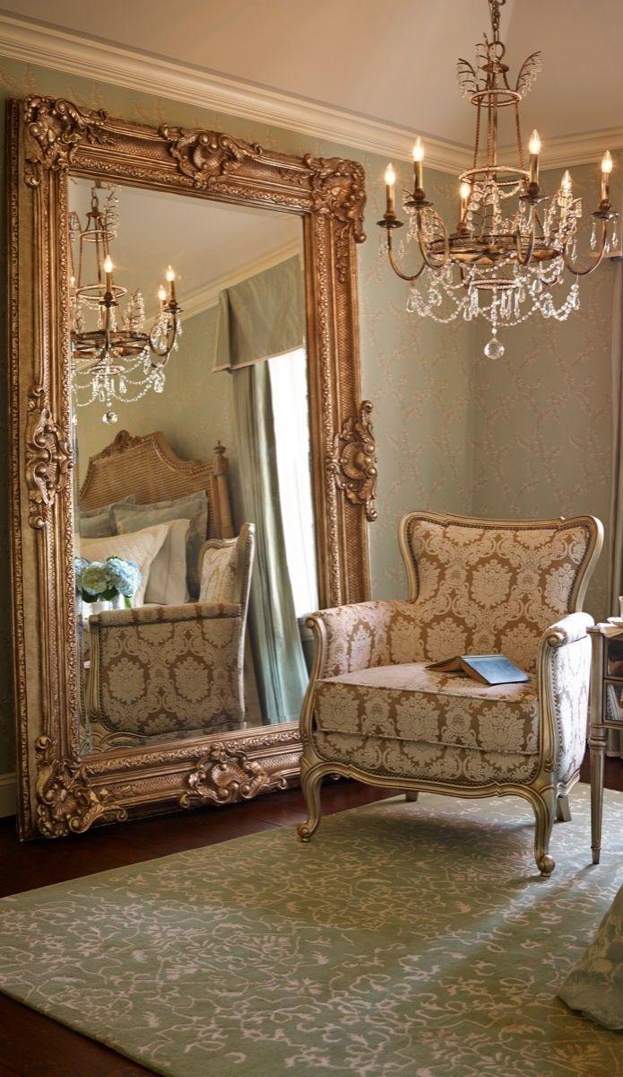 268 Best Καθρεφτεσ Images On Pinterest | Mirror Mirror, Mirrors Regarding Oversized Antique Mirror (Image 1 of 20)