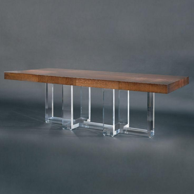 27 Best Lucite Table Base Images On Pinterest | Lucite Table Pertaining To Acrylic Dining Tables (Image 1 of 20)