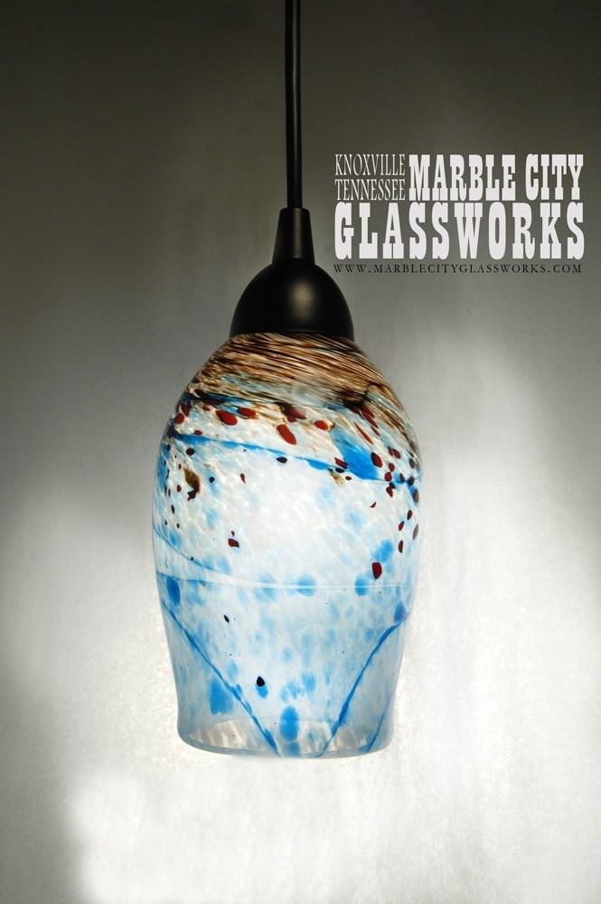 274 Best Blown Glass Pendant Lights Images On Pinterest Intended For Turquoise Blown Glass Chandeliers (Image 2 of 25)