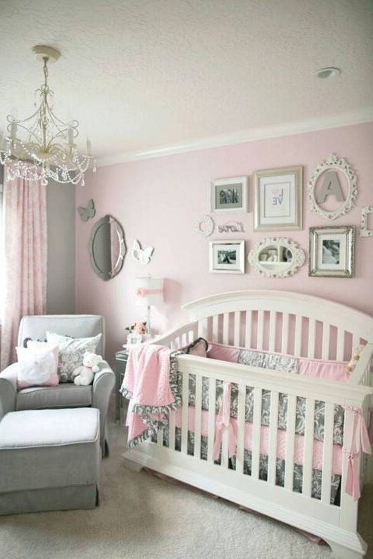 28 Best Ba Girl Room Ideas Collection Images On Pinterest Throughout Chandeliers For Baby Girl Room (Image 1 of 24)
