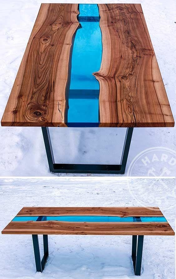 28 Unique Dining Tables To Make The Space Spectacular – Digsdigs Regarding Blue Dining Tables (Image 1 of 20)