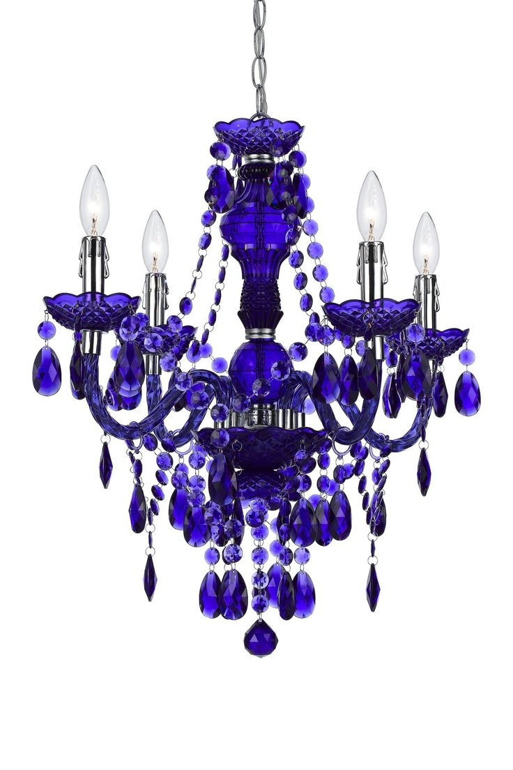 Featured Image of Purple Crystal Chandelier Lights