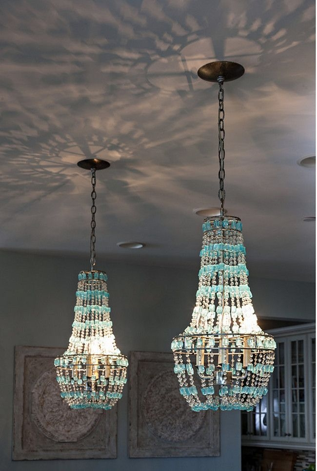 289 Best Fabulous Lighting Images On Pinterest With Regard To Turquoise Beaded Chandelier Light Fixtures (Image 3 of 25)