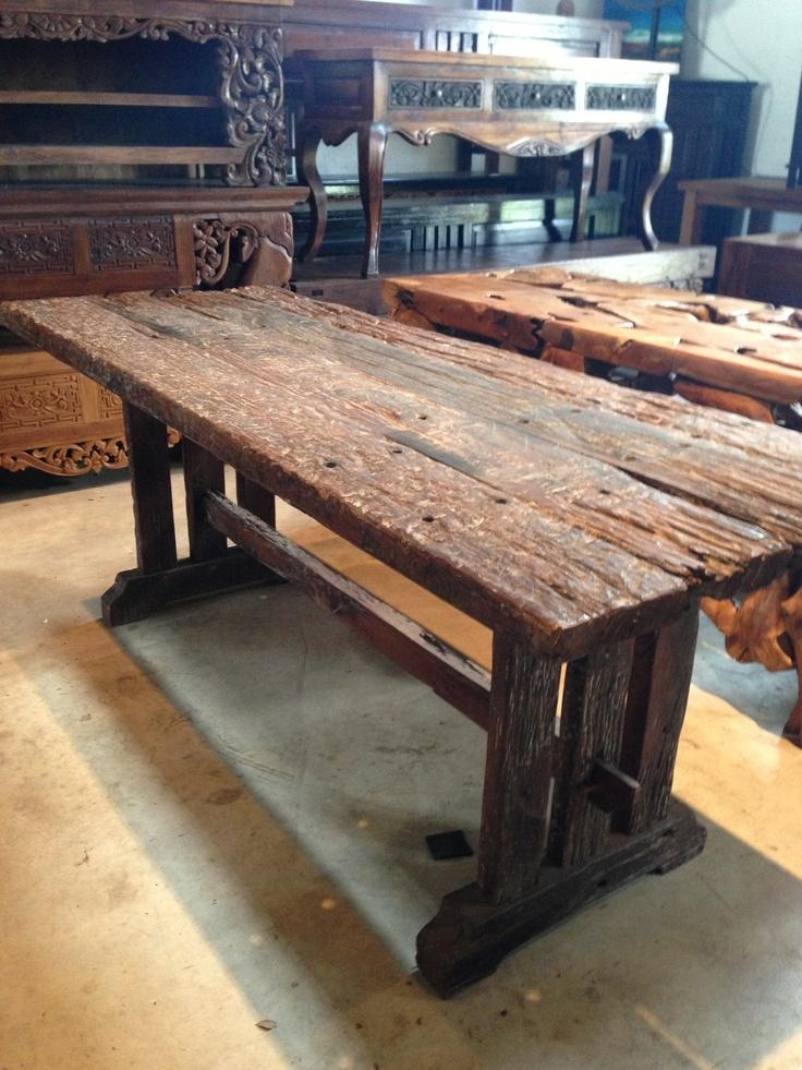 29 Best Railroad Tie Projects Images On Pinterest | Railroad Ties With Regard To Railway Dining Tables (Image 3 of 20)