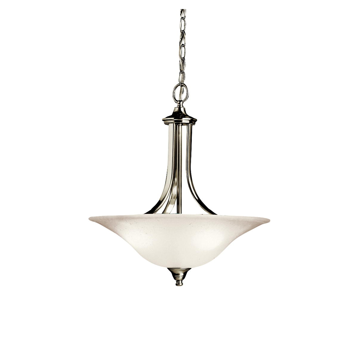 3 Light Inverted Pendant In Brushed Nickel Dover Collection Intended For Inverted Pendant Chandeliers (Image 2 of 25)