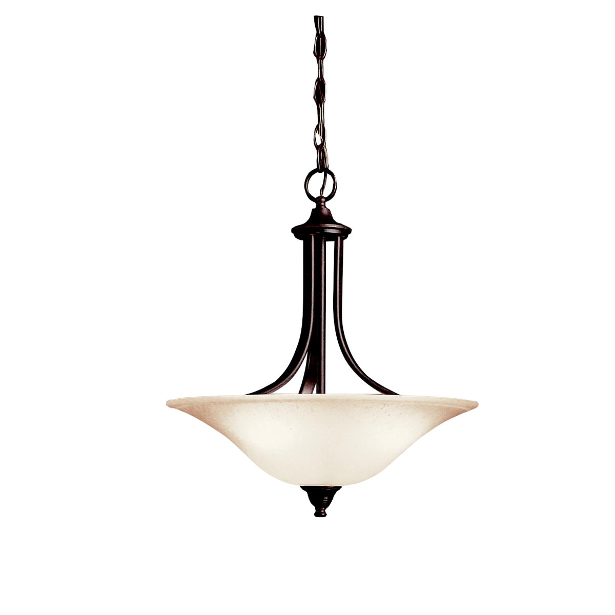 3 Light Inverted Pendant In Brushed Nickel Dover Collection With Inverted Pendant Chandeliers (Image 3 of 25)