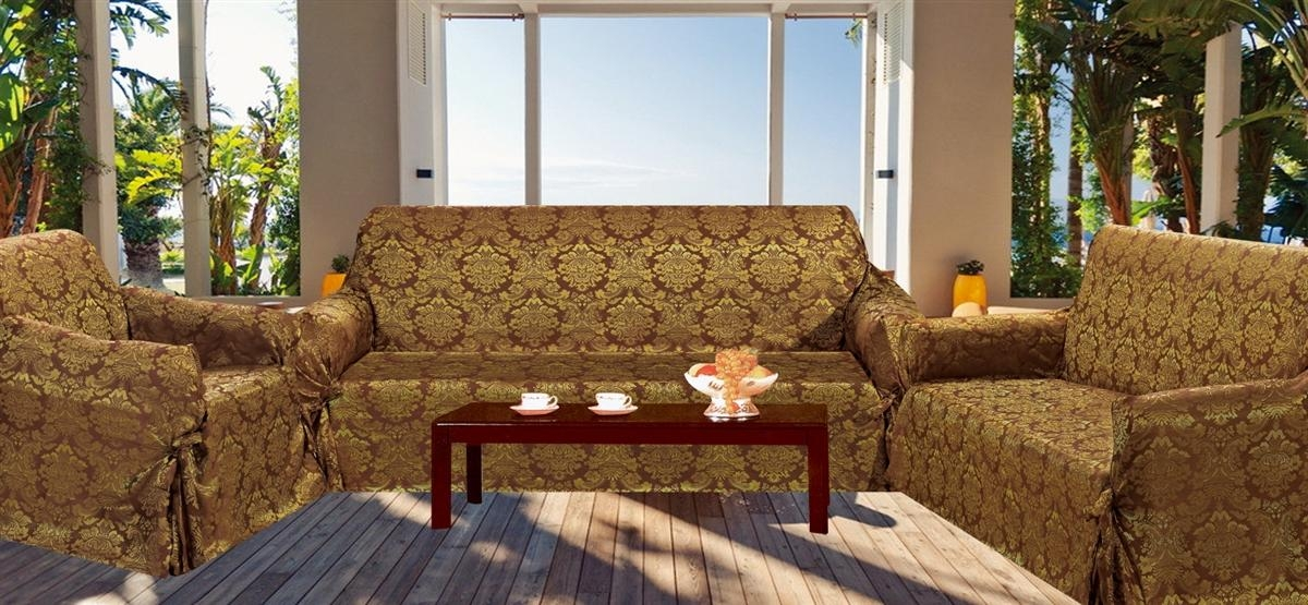 3 Piece Sofa Slipcover | Ira Design Throughout 3 Piece Sofa Covers (Image 8 of 20)