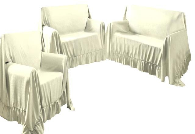 3 Piece Sofa Slipcover | Ira Design With Regard To 3 Piece Sofa Slipcovers (Image 4 of 20)