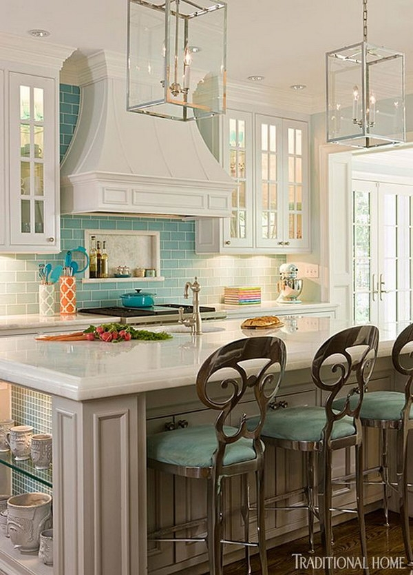 30 Awesome Kitchen Lighting Ideas 2017 Intended For Turquoise Lantern Chandeliers (Photo 10 of 25)