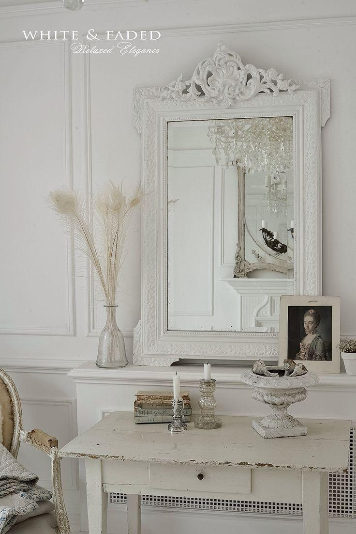 3039 Best Whites, Pastels And Neutrals At Home Images On Pinterest Intended For Shabby Chic Mirror White (Image 2 of 20)