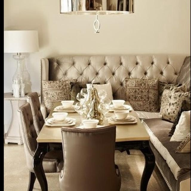 33 Best Dining Room Images On Pinterest | Dining Room, Benches And For Dining Room Bench Sofas (Image 1 of 20)