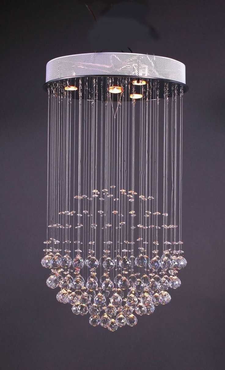 33 Best Foyer Lighting Images On Pinterest Within Purple Crystal Chandelier Lights (Image 2 of 25)