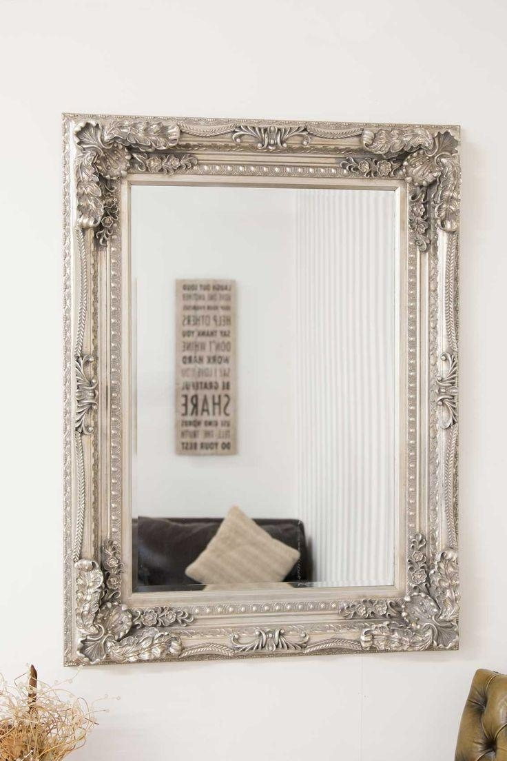 33 Best Mirrors Images On Pinterest | Wall Mirrors, Antique Silver Intended For Big Antique Mirrors (Image 3 of 20)