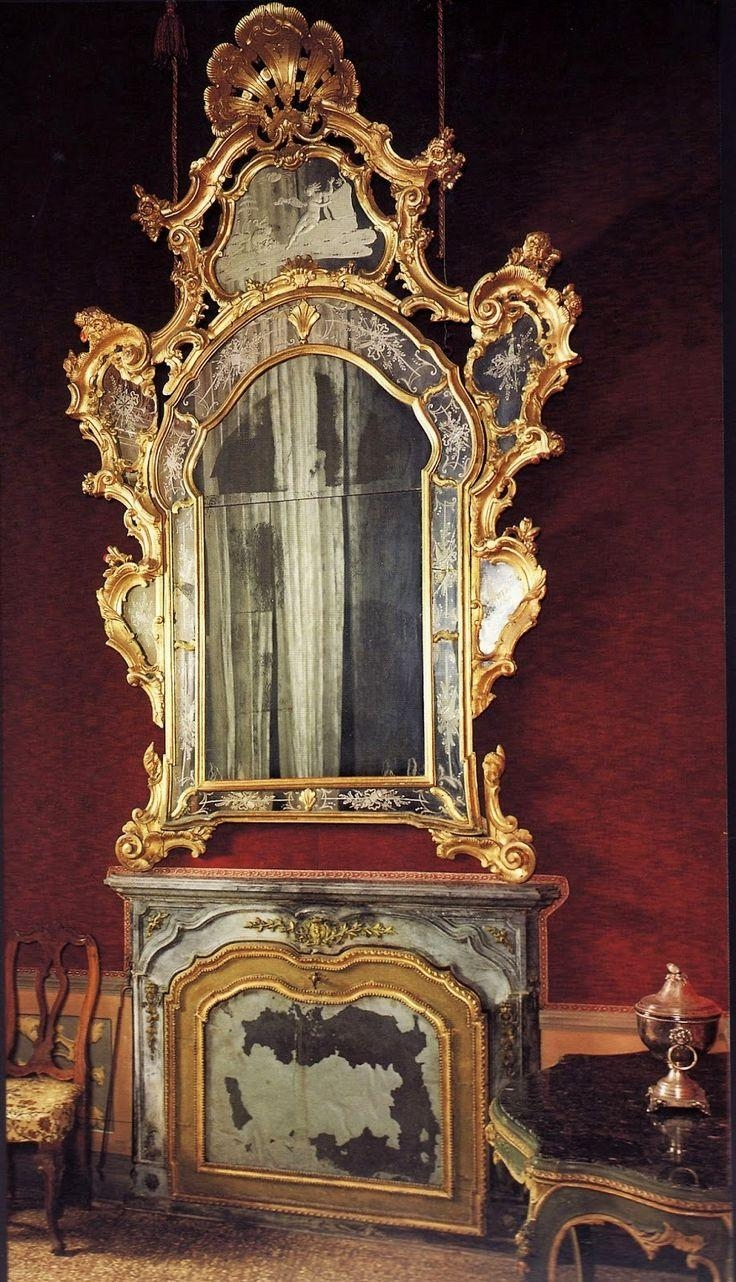 343 Best Ornate Mirrors Images On Pinterest | Mirror Mirror With Regard To Big Antique Mirrors (Image 4 of 20)