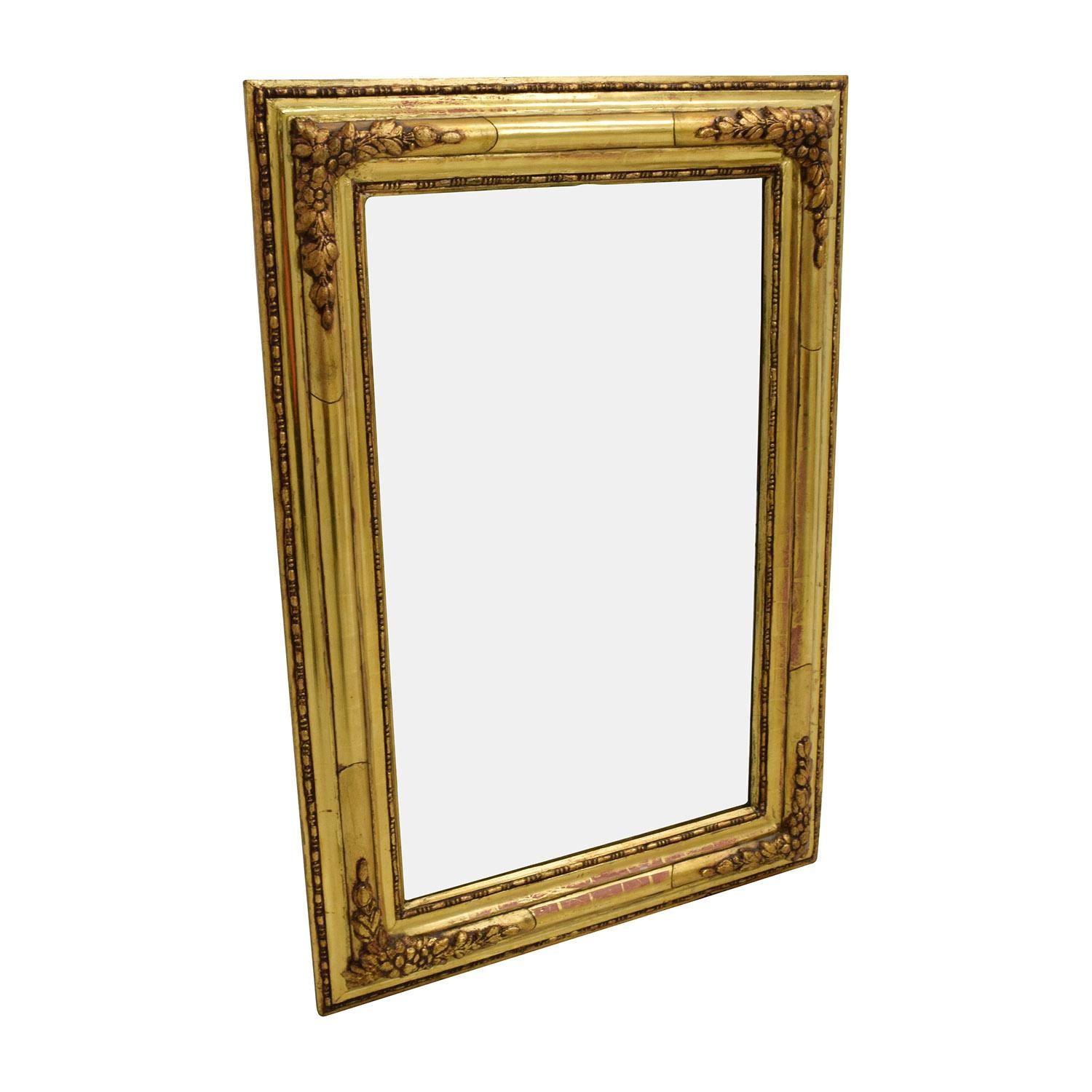 36% Off – Gold Frame Oblong Mirrors / Decor Intended For Gilt Edged Mirror (Image 3 of 20)