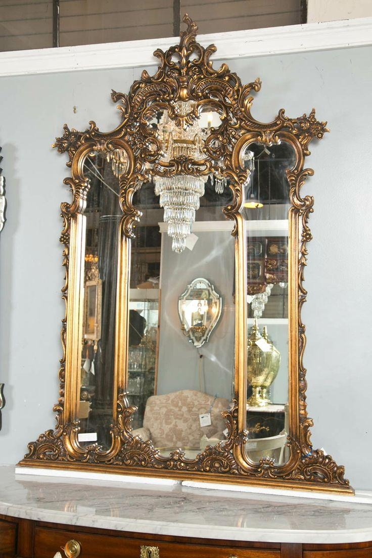 365 Best Mirrors Images On Pinterest | Medicine Cabinets, Antique For French Mirrors Antique (Image 1 of 20)