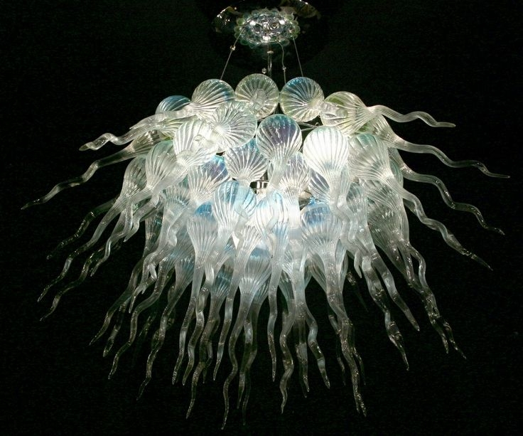 38 Best Hand Blown Glass Pendant Lights Images On Pinterest Intended For Turquoise Blown Glass Chandeliers (View 10 of 25)